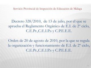 Servicio Provincial de Inspección de Educación de Málaga