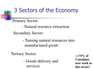 3 Sectors of the Economy