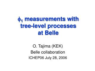 f 1  measurements with  tree-level  processes at Belle