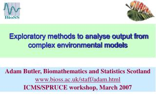 Exploratory methods to analyse output from complex environmental models