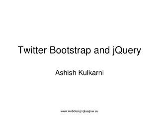 Twitter Bootstrap and jQuery