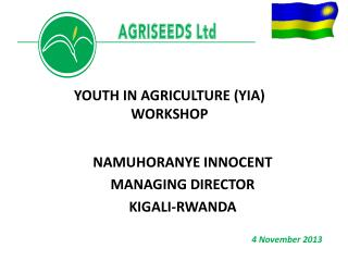 NAMUHORANYE INNOCENT MANAGING DIRECTOR KIGALI-RWANDA