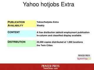 Yahoo hotjobs Extra