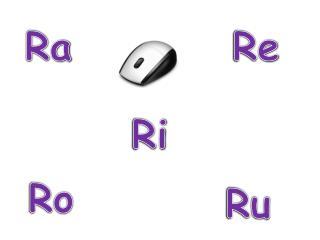 R      a    ra R      e    re R      i     ri R      o    ro R      u    ru