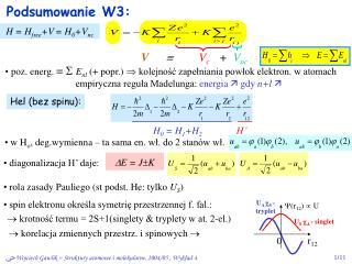 Podsumowanie W3: