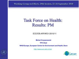Working Group on Effects, 29th Session, 22-24 September 2010