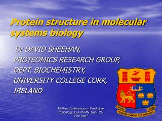 Protein structure in molecular systems biology
