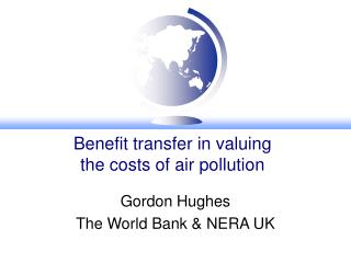 Benefit transfer in valuing  the costs of air pollution