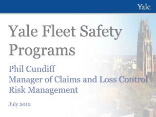 Yale Fleet Safety Programs