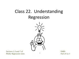 Class 22.  Understanding Regression