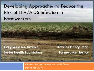 Developing Approaches to Reduce the Risk of HIV/AIDS Infection in Farmworkers