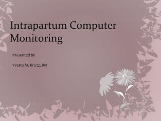 Intrapartum Computer Monitoring