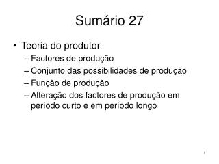 Sumário 27