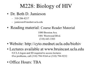M228: Biology of HIV