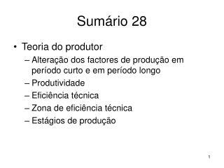 Sumário 28
