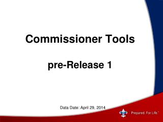 Commissioner Tools pre-Release 1