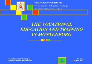 THE VOCATIONAL EDUCATION AND TRAINING IN MONTENEGRO