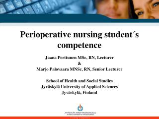 Perioperative nursing student´s competence