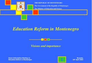 Education Reform in Montenegro