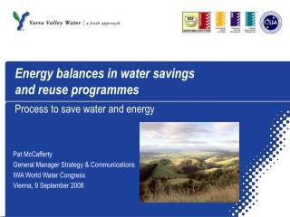 Energy balances in water savings  and reuse programmes