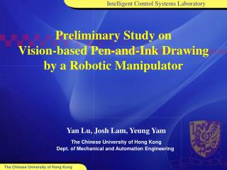 Preliminary Study on Vision-based Pen-and-Ink Drawing  by a Robotic Manipulator