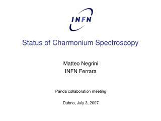Status of Charmonium Spectroscopy
