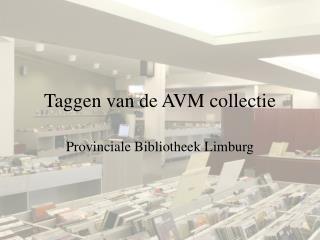 Taggen van de AVM collectie