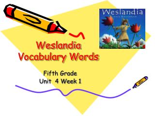 Weslandia Vocabulary Words