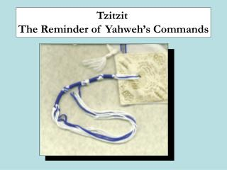 Tzitzit  The Reminder of Yahweh's Commands
