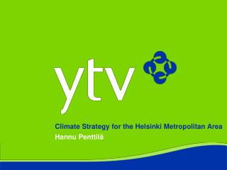 Climate Strategy for the Helsinki Metropolitan Area