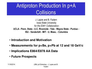Antiproton Production In p+A Collisions