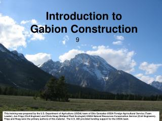 Introduction to  Gabion Construction