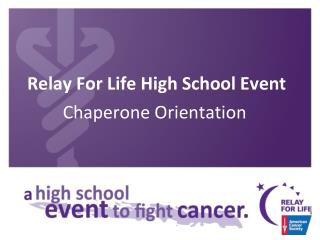 Relay For Life High School Event