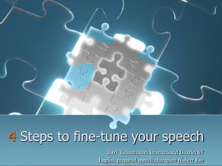 4  Steps to fine-tune your speech