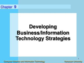 Developing  Business/Information Technology Strategies