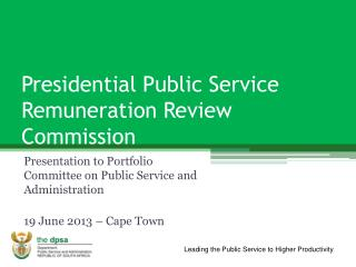 Presidential Public Service Remuneration Review Commission