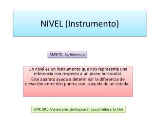 NIVEL (Instrumento)