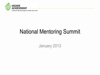 National Mentoring Summit