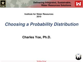 Choosing a Probability Distribution