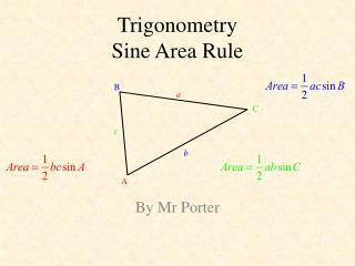 Trigonometry Sine Area Rule
