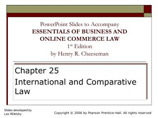 Chapter 25 International and Comparative Law