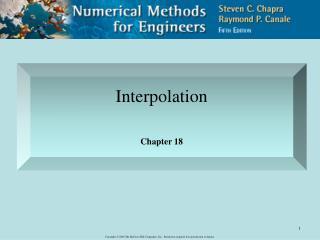 Interpolation Chapter 18