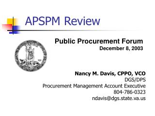APSPM Review