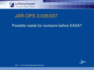 JAR-OPS 3.035/037