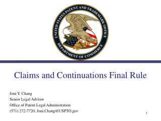 Claims and Continuations Final Rule