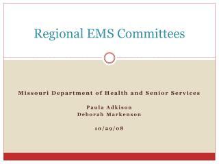 Regional EMS Committees
