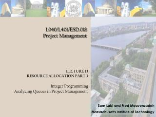 1.040/1.401/ESD.018 Project Management