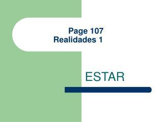 Page 107 Realidades 1