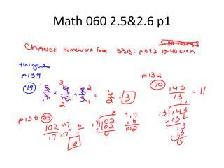 Math 060 2.5&2.6 p1