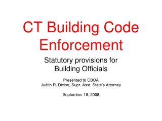 CT Building Code Enforcement